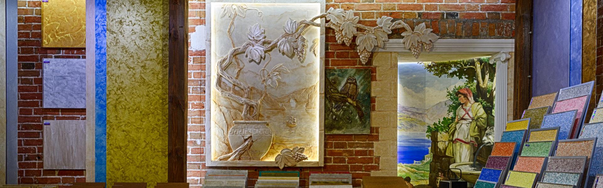 Фрески уникальной ручной работы из декоративной шёлковой штукатурки SILKPLASTER